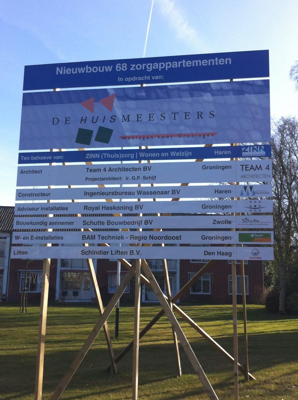 Nieuwbouw 68 zorgappartementen Haren - Betonmortel Centrale Groningen