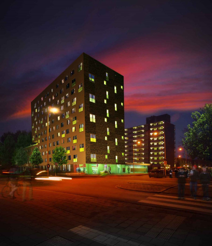 Jongerenhuisvesting Zonnelaan, Groningen Beton centrale Groningen 2