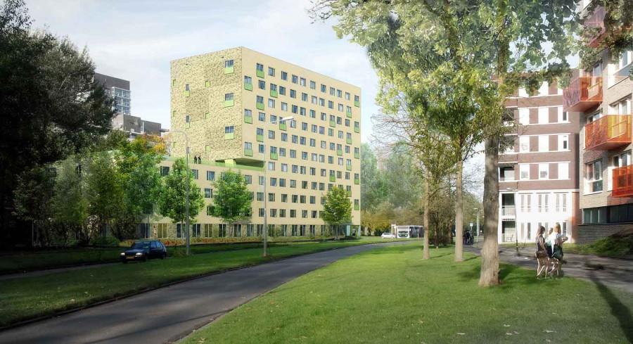 Jongerenhuisvesting Zonnelaan, Groningen Beton centrale Groningen 3