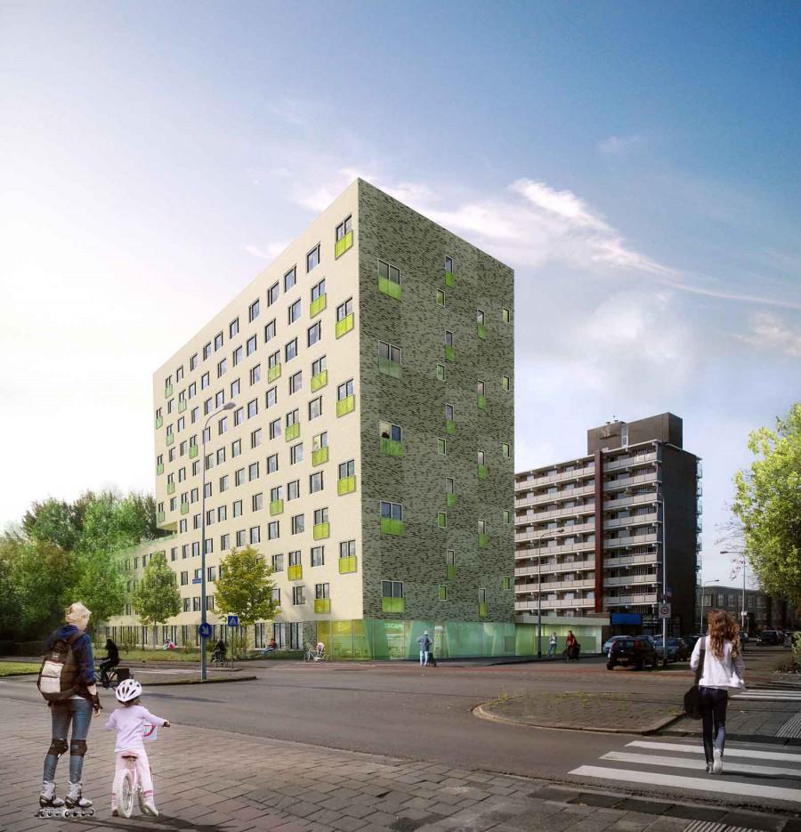 Jongerenhuisvesting Zonnelaan, Groningen Beton centrale Groningen